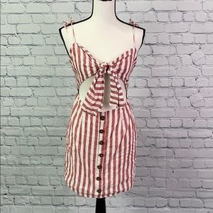 Oliviaceous Red Stripe Dress Size Small